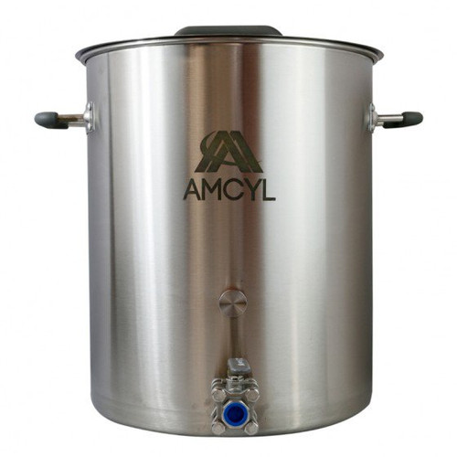 AMCYL 20 Gallon Brew Kettle w/ 3-Piece Ball Valve