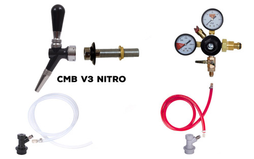Single Faucet Fridge Kit for Nitro with CMB V3 Nitro Faucet