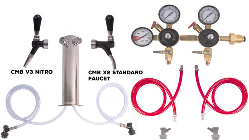2 Faucet Tower Kit for Nitro with CMB V3 Nitro Faucet