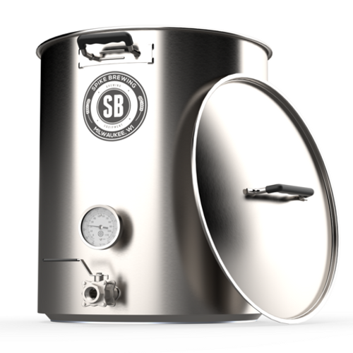 Spike Brewing V4 30 Gallon Kettle - Two Vertical Couplers