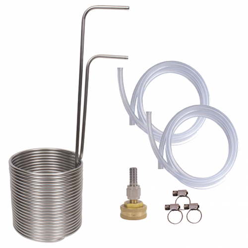 Stainless Steel Immersion Wort Chiller - 50 Feet