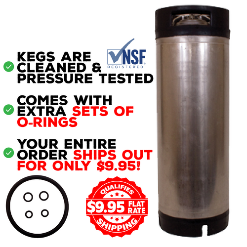 "Cornelius Keg ""or Firestone"", 5 Gallon, Ball Lock - Pepsi Style for Homebrew/Soda"