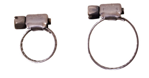 Worm Clamps - Stainless Steel - Choose Your Size