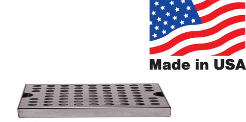 "12""x5"" Drip Tray, Stainless Steel, Surface Mount"