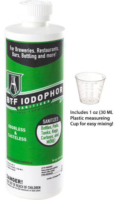 BTF® Iodophor Sanitizer  (16 Oz)