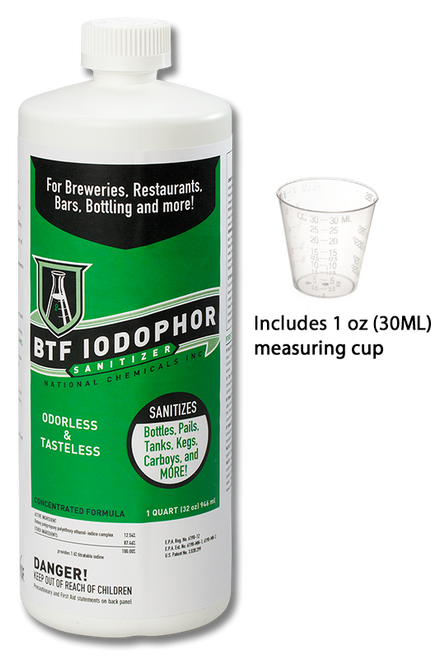 BTF® Iodophor Sanitizer (32 Oz)