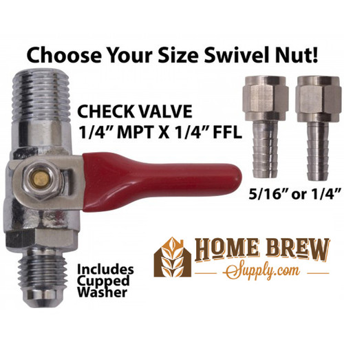 Shutoff with Check Valve