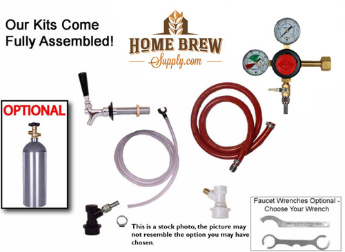 1 Faucet Fridge Homebrew Kegerator Kit
