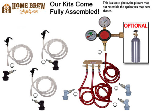 3 Faucet Basic Homebrew Kegerator Kit