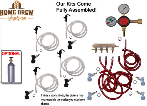 4 Faucet Basic Homebrew Kegerator Kit