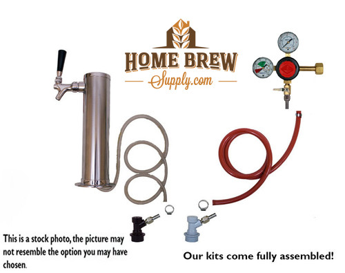 1 Faucet Tower Homebrew Kegerator Kit