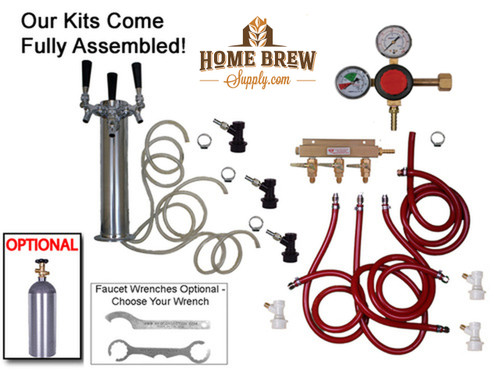 3 Faucet Tower Homebrew Kegerator Kit