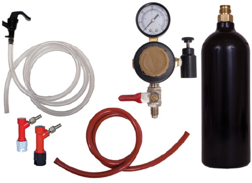 Basic Pin Lock Keg Kit w/ a 20oz Pin Valve CO2 Cylinder