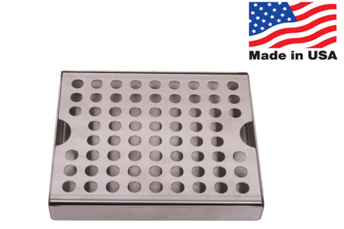 "6""x5"" Drip Tray, Stainless Steel, Surface Mount - MADE IN THE USA"