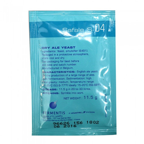 Safale S-04 Beer Yeast (11.5 g)
