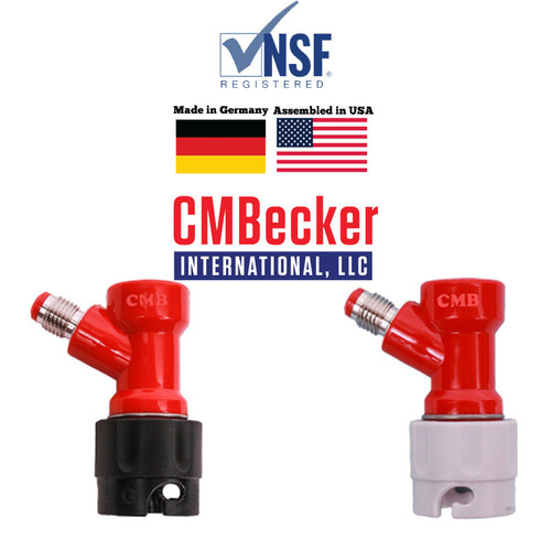 "CMB Disconnects (Set of 2) for OUT (Liquid) , 1/4 MFL Shorter Version (2 1/2"" Tall) and IN (gas), 1/4 MFL Shorter Version (2 1/2"" Tall) - Pin Lock"