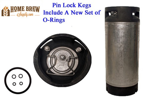 "***SPECIAL*** Tall Pin Lock ""Coke Style"" Cornelius Keg - or Firestone, 5 Gallon, for Homebrew/Soda"