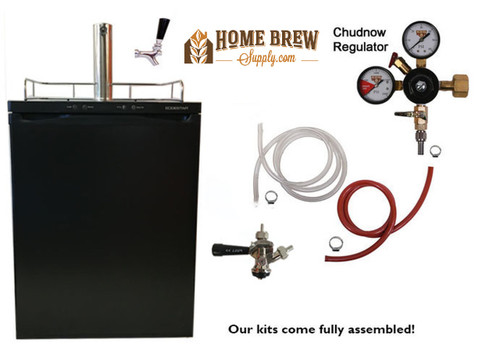 1 Faucet Full Size Kegerator with Digital Display Commercial- 3 Keg Capacity