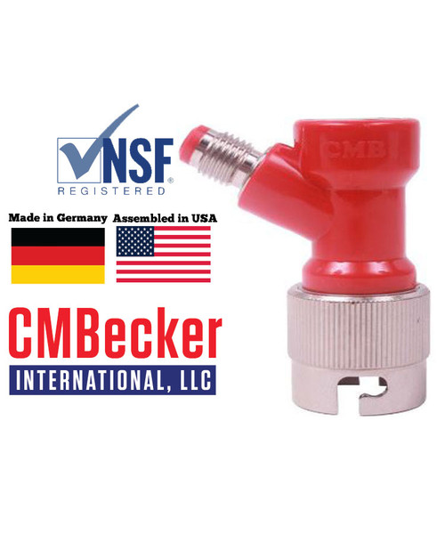 CMB Pin Lock  Disconnect Short Gas 1/4 MFL W/ Metal Collar