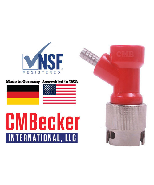 CMB Pin Lock Disconnect Short Liquid 1/4 Barb W/ Metal Collar