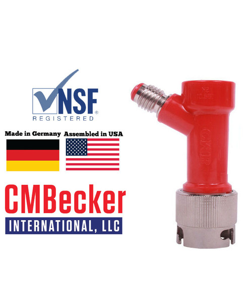 CMB Pin Lock Disconnect Liquid 1/4 MFL W/ Metal Collar