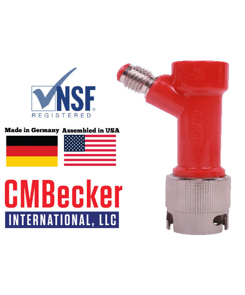 CMB Pin Lock Disconnect Gas 1/2 MFL W/ Metal Collar
