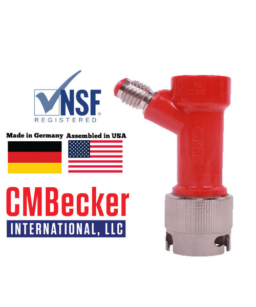 CMB Pin Lock Disconnect Liquid 1/2 MFL W/ Metal Collar