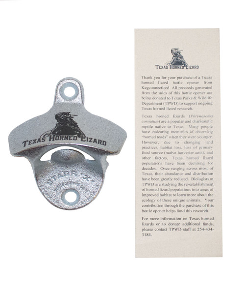 Texas Horned Lizard Bottle Opener