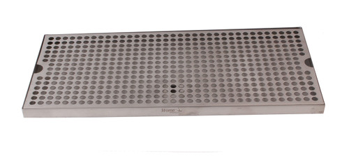12 x 8 SS Drip Tray, Surface mount with Drain