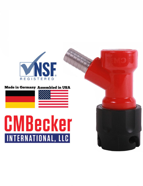 CMB Pin Lock Disconnect Short Liquid 3/8 Barb (Fits 5/16 hose)