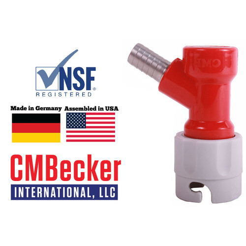 CMB Pin Lock Disconnect Short Gas 3/8 Barb  (Fits 5/16 hose)