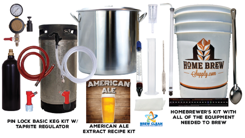 Homebrew Starter kit w/  Pin Lock Draft System
