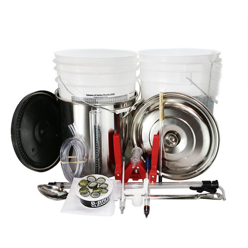 Complete Homebrew Beer Kit (w/ Plastic Fermenter)