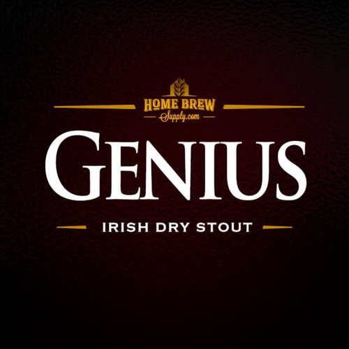 Genius Irish Dry Stout - All-Grain Recipe Kit.