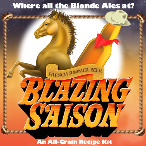 Blazing Saison - French Summer Beer Extract Recipe Kit