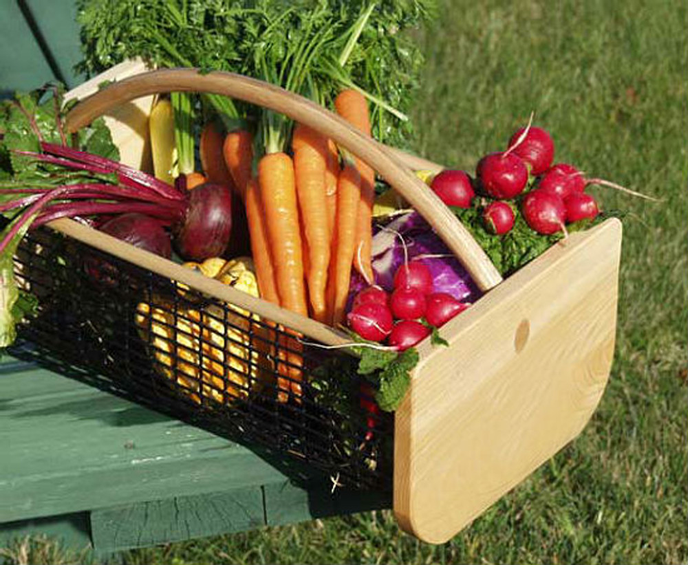Garden Hods are rugged harvest baskets