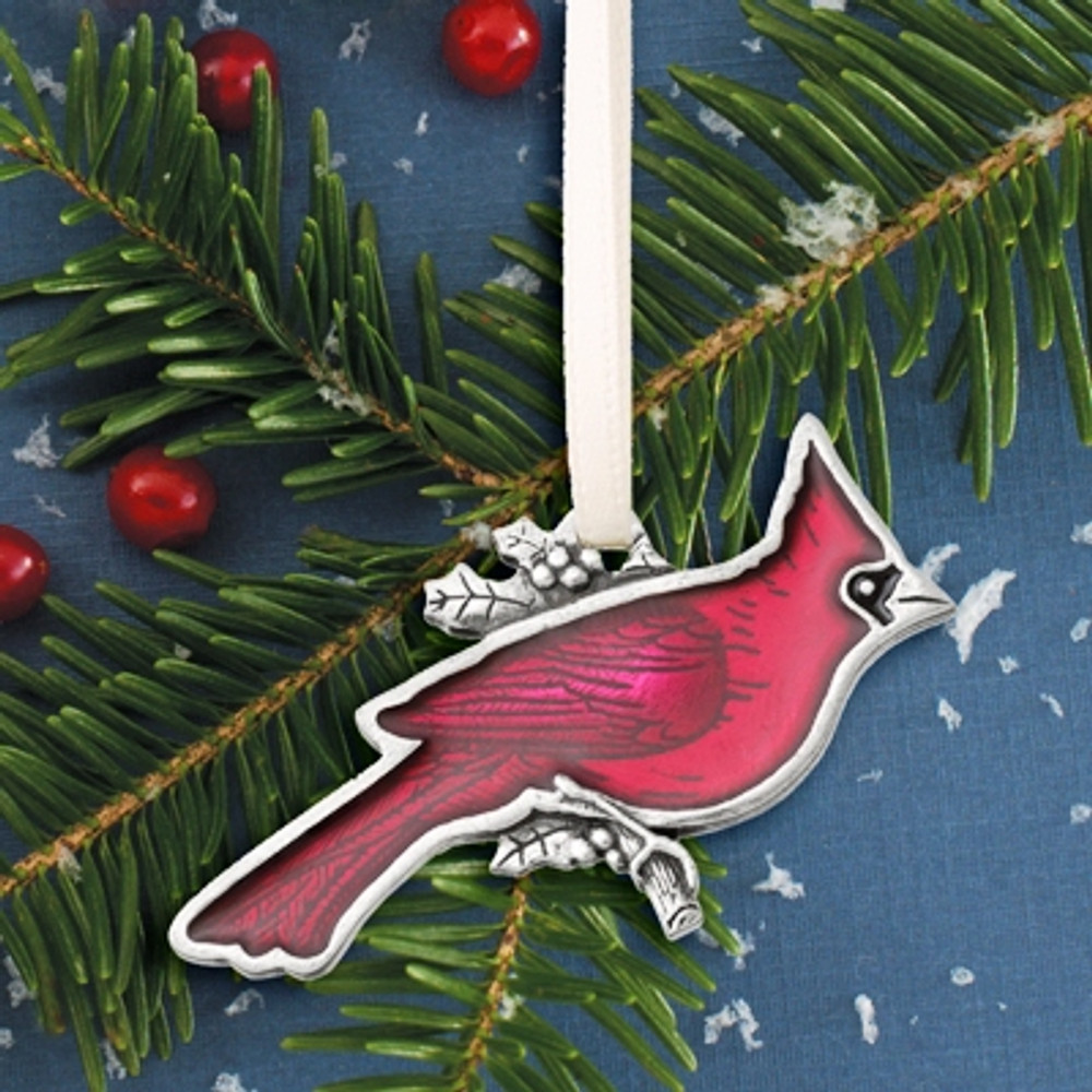 Cardinal Pewter Ornament