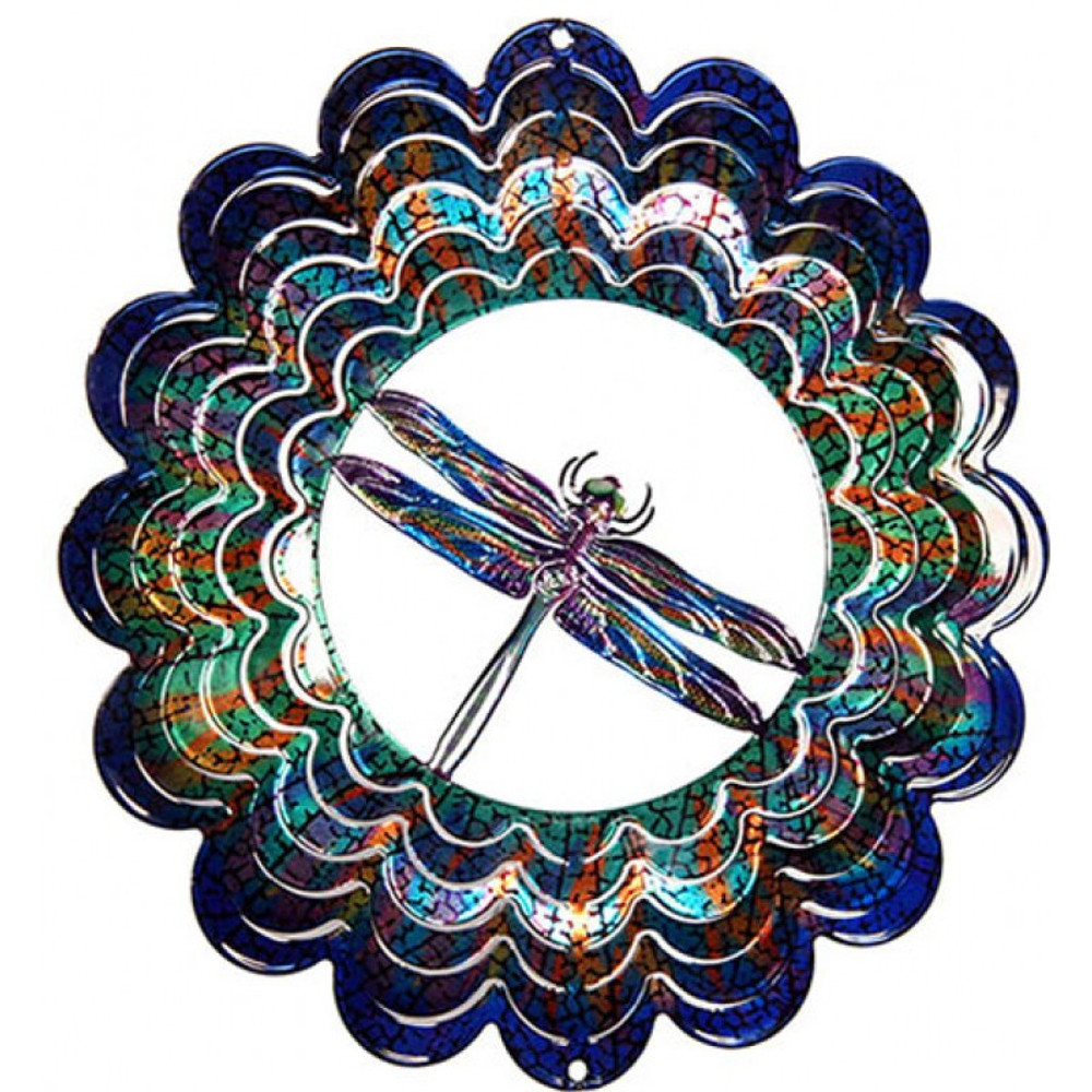 Kaleidoscope Wind Spinner Dragonfly