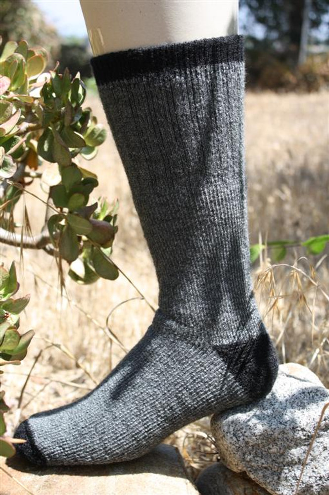 Alpaca Fleece Outdoor Adventure Socks - Gray