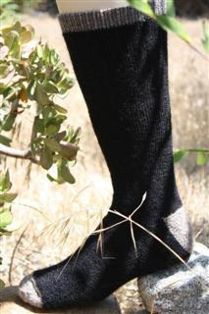 Alpaca Fleece Outdoor Adventure Socks - BLACK