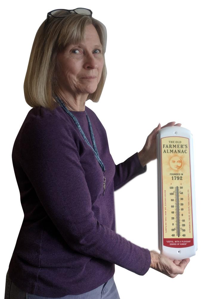 Almanac Retro Advertising Thermometer