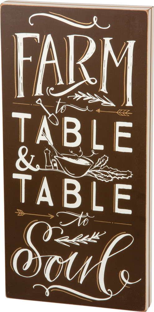 Box Sign - Farm To Table