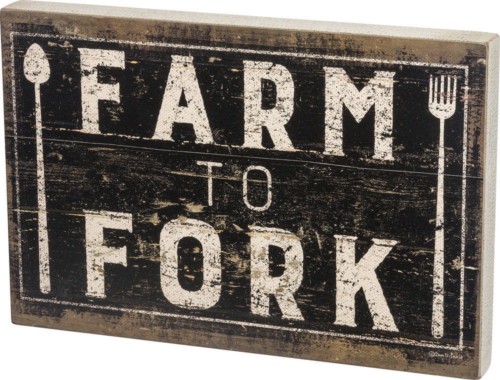 Box Sign - Farm to Fork