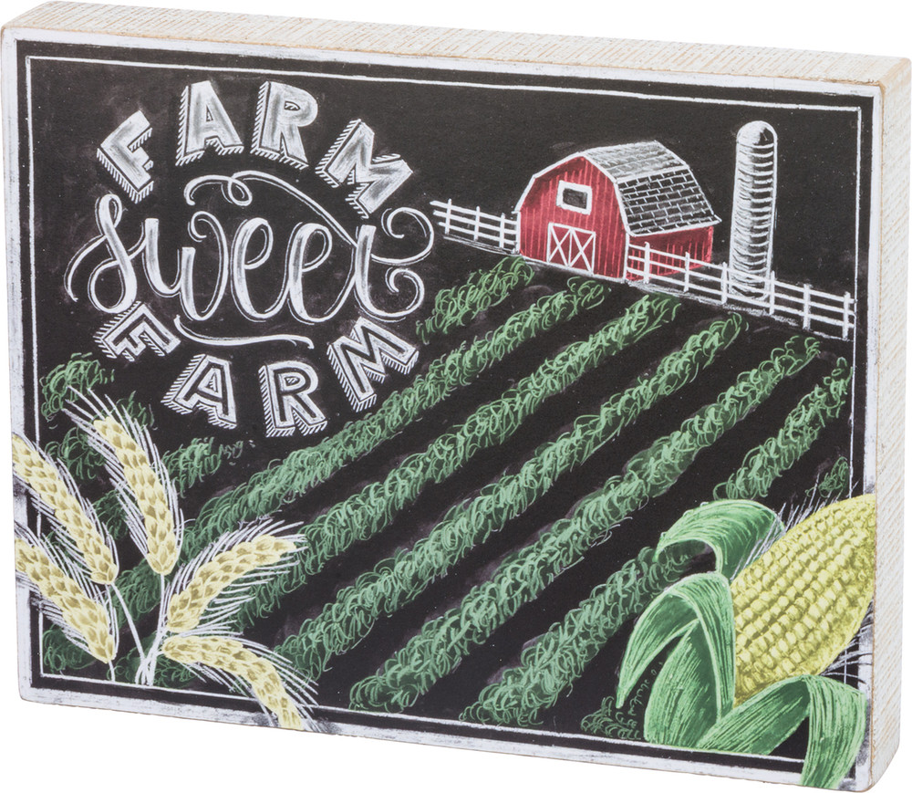 Chalk-Style Sign Sweet Farm