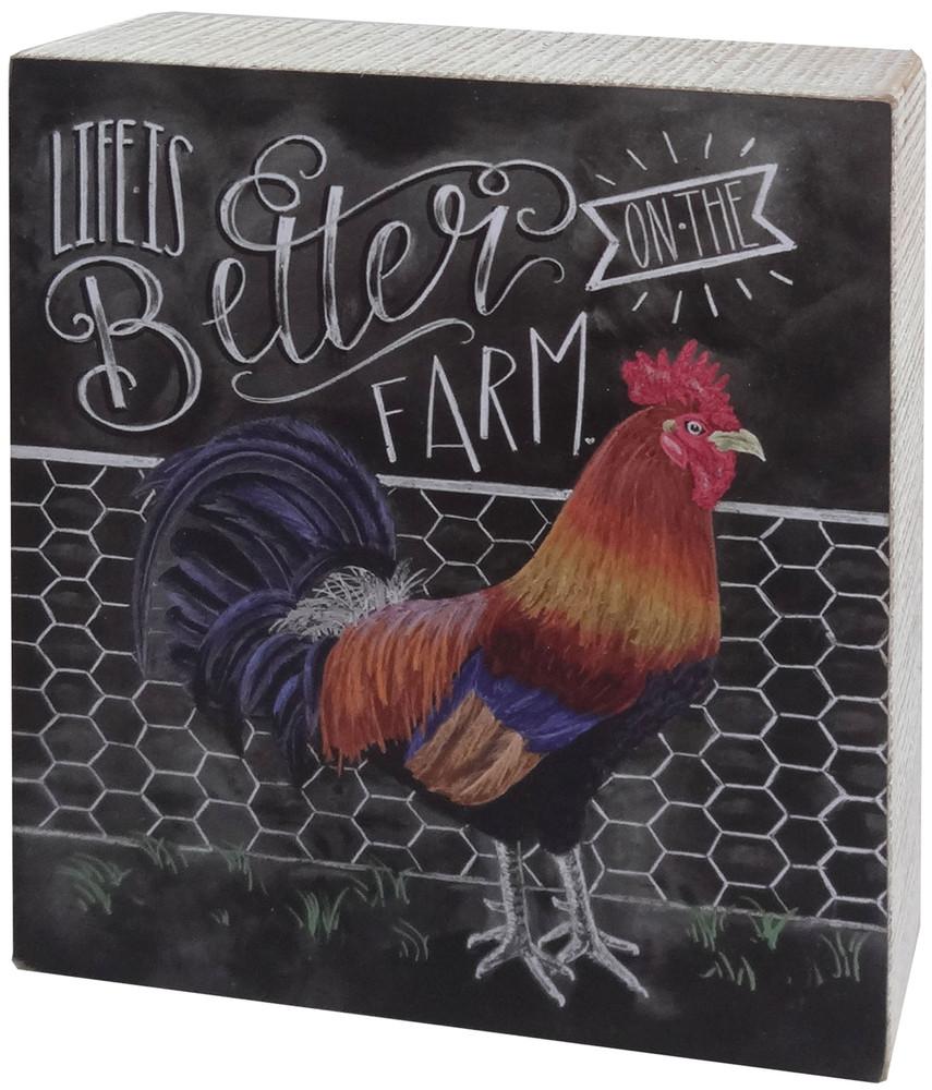 Chalk-Style Sign On The Farm
