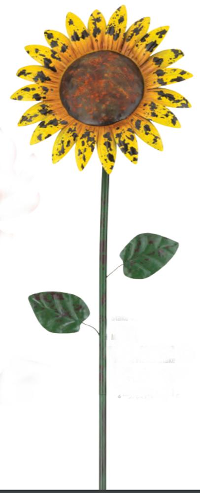 "Rustic Flower Stake 46"" - Sunflower"