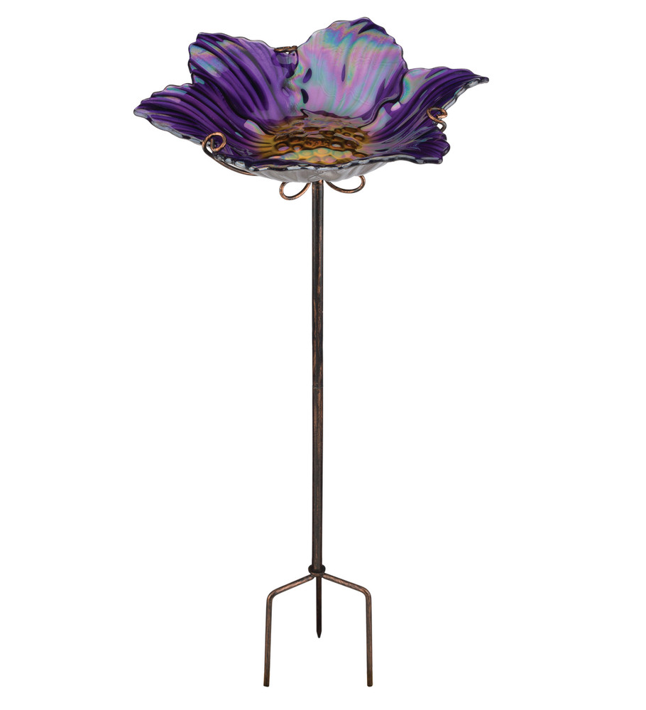 Birdbath/Feeder Stake - Purple