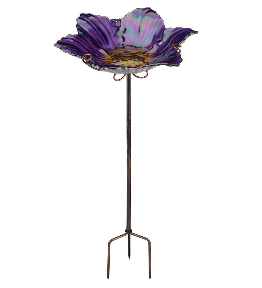 Birdbath/Feeder Stake - Purple