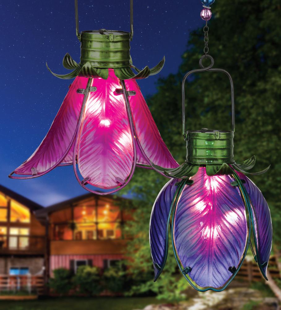 Solar Flower Lantern - Purple Iris