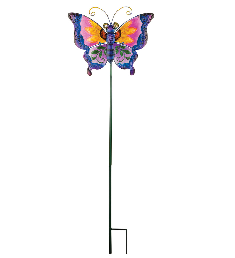 Floral Butterfly Stake - Purple
